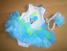 Baby Mädchen 💕 Sommer Kleid 💕 Set 2tlg 💕 Bodykleid + Stirnband 💕 56/62 💕NEU