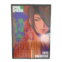 Cowboy Bebop Spike And Faye Movie Poster - Vintage 2000 Anime 14 x 20 inches