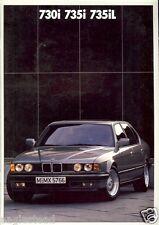 Auto Brochure - BMW - 730i 735i 735iL - c1987 - 2 items (AB271)