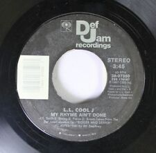 Rap 45 L.L. Cool J - My Rhyme Ain'T Done / I Need Love On Def Jam