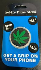 Marijuana Cannabis Phone Holder Grip socket Mobile Stand Pop Out Socket