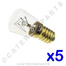 CONFEZIONE 5 X ALTA TEMPERATURA 300°C interno lampadina del forno a vite E14
