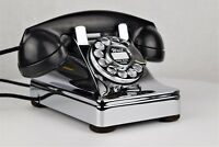 Vintage Antique Western Electric 302 Rotary Dial Telephone Chrome Plated - 20307
