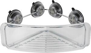 OXO Good Grips Strong Hold Suction Corner Shower Bathroom Basket, NEW
