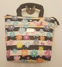 Luv Betsey Johnson Black White Stripe Daisy Floral Lunch Box Tote Bag Insulated