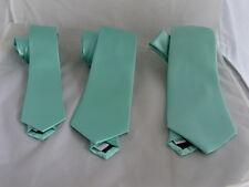 "Mens Polyester Mint Green Ties>Classic> 3.3"" = 8cm OR Slim>3"" Skinny > 2.5"" =6cm"