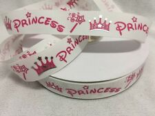 "Princess- Crown-wand Grosgrain Ribbon 7/8"" Sold by 2M - Hair bows- Dummy clips"