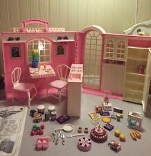 Barbie MAGIC KITCHEN Folding House Playset HTF Fold-Up 1998-complete W Box & Ext