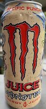 NEW JUICE MONSTER PACIFIC PUNCH ENERGY DRINK 16 FL OZ FULL CAN TAURINE B VITAMIN