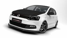 schwarze Spoilerlippe für VW Polo 6R GTI Lippe Front Spoiler Diffusor WRC Ansatz