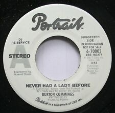 Rock Promo Nm! 45 Burton Cummings - Never Had A Lady Before / Timeless Love On P