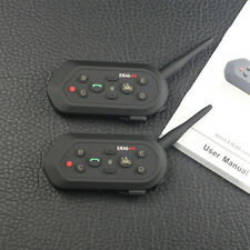 2PCS Waterproof E6 BT 1200M Range Motorcycle and Soccer Bluetooth intercom