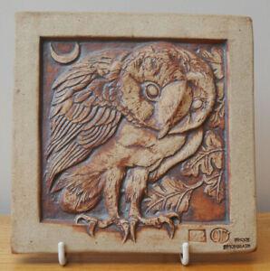 Quantock  Design - Decorative Owl Tile - Exmoor, Simonsbath - 16cms X 16cms