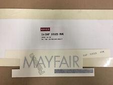 Classic Mini 'MAYFAIR' Bootlid Decal - Silver/Navy - DAF10123RVK