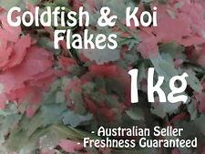 Goldfish & Koi Flakes Bulk 1kg Aquarium Pond Fish Food Flake Feed