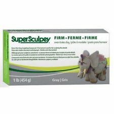 Super Sculpey - Oven Bake Clay - 1lb (454gm) FIRM - Grey