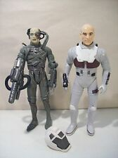 "2 VINTAGE STAR TREK 6"" ACTION FIGURES FIRST CONTACT PICARD NEXT GENERATION BORG"