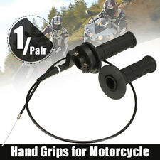 "7/8"" TWIST THROTTLE HAND GRIP & CABLE FOR ATV QUAD PIT DIRT BIKE 50CC TO 190CC"