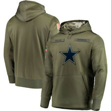 Dallas Cowboys Hoodie 2019 Olive Salute to Service Sideline Therma Pullover