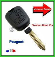 Coque Télécommande Plip Bouton Peugeot Partner Expert + Lame Vierge Sans Vis