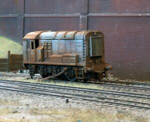 OO heavily rusted and weathered scrapyard Class 08 diesel loco