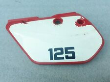 KAWASAKI KMX 125 KMX125 LEFT HAND RED SIDE PANEL