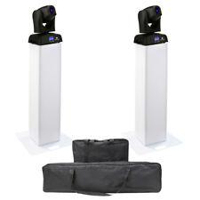 2x American DJ ADJ Pocket Pro LED Moving Head Light + Equinox 1m Plinth Podium