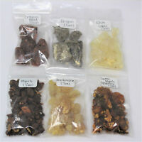 Resin Incense Variety Sampler Set: 6 Fragrances, 6 x 1/2 oz bags