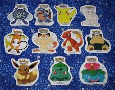 Vintage Pokemon Lot of 11 Old School Large Sized Stickers 1999 Mew Eevee Raichu