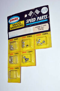 AURORA T JET SPEED PARTS ALUMINUM HO SPEED HUBS CARDED