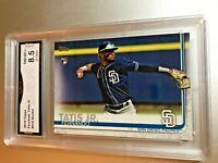 FERNANDO TATIS JR. ROOKIE CARD 2019 Topps #410 GMA Graded 8.5 NM-MT+