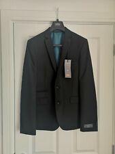 NWT Herren Schwarz m&s Ltd Edition Super Slim Fit Blazer 40 Brust mittlere Länge Anzug