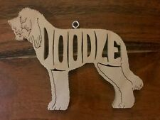 Doodle Goldendoodle Labradoodle Wood Toy Dog Christmas Ornament Gift Tag Usa