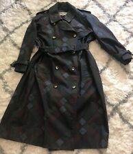 Yves Saint Laurent Rive Gauche Vintage Raincoat Coat Colorblock Camo Sz 38 YSL
