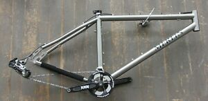 "Merlin 17.5"" XLM Titanium Disc Mountain Frame with Crank BB Derailleur Shifter"