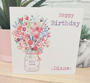 Personalised Female Birthday Card Mum Friend Sister Auntie Daughter Grandma Wife