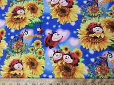 Pillow Pets Ladybug Sunflower Garden Fabric  1 Porta Crib Sheet or Pack N Play