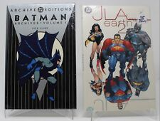 DC ARCHIVED EDITION BATMAN VOL 1 FACTORY SEALED & JLA EARTH 2