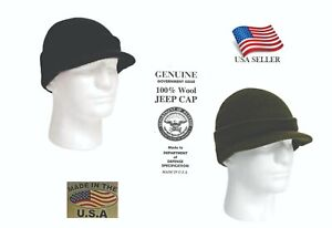 Winter Knit Jeep Cap 100% Wool GI Genuine Military Made in USA Rothco New