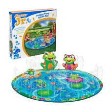 New Banzai Jr Froggy Pond Splash Mat Summer Garden Sprinker Water Play Official