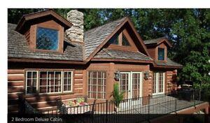 Big Cedar Wilderness Club CABIN! 7/6-7/9/21 2bd/2 Ba Sleeps 6. By Branson, MO