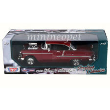 MOTORMAX 79002 BLOWER ENGINE 1955 55 CHEVY BEL AIR BELAIR 1/18 DIECAST BURGUNDY