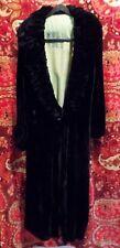 Antique Vintage Black Velvet w Light Green Lining Brooks Philadelphia Dress Coat