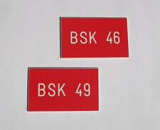 1 Stück PVC Kunstoff Brandschutzklappen - Schilder 30mm x 50mm mit Gravur