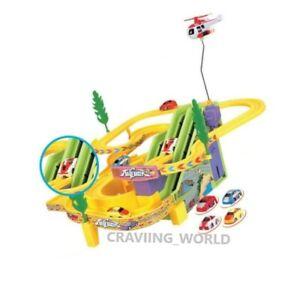 Flexible children car track RACER Racing game set Led Fun car Toy SOUND UK MUSIC