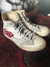 Converse X Comme des Garcons PLAY, High Top Sneakers, UK7 EU42 - White