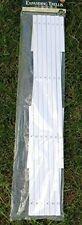 2x White Expanding Trellis Plastic Garden Trellis 180 X 40cm 1.8m New PVC