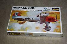UNUSED SEALED  VINTAGE MODEL KIT – HASEGAWA He51A-1 AIRPLANE