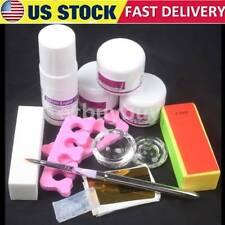 31 in 1 Nail Art Kits DIY Acrylic Nail Liquid Powder Buffer Block Pen Tools Set