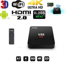 V88 TV Box RK3229 H.265 Quadcore 4K Wifi HDMI Android 6.0 8G Set-top box Hot